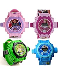 Ben10, Barbie, Sofia And Doraemon, Sofia 24 Images Projector Watch Digital Watch - For Boys & Girls