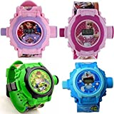 Vishwakarma Enterprises Combo Ben 10, Doraemon And Barbie, Sofia, 24 Images Projector Watch Digital Watch - For Boys & Girls
