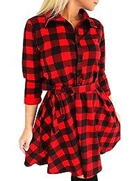 Vestido negro con rayas rojas