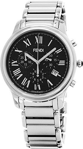 Fendi Men's F252011000 Classico Analog Display Swiss Quartz Silver Watch