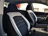Sitzbezüge k-maniac | Universal schwarz-Weiss | Autositzbezüge Set Vordersitze | Autozubehör Innenraum | Auto Zubehör für Frauen und Männer | V1034069 | Kfz Tuning | Sitzbezug | Sitzschoner