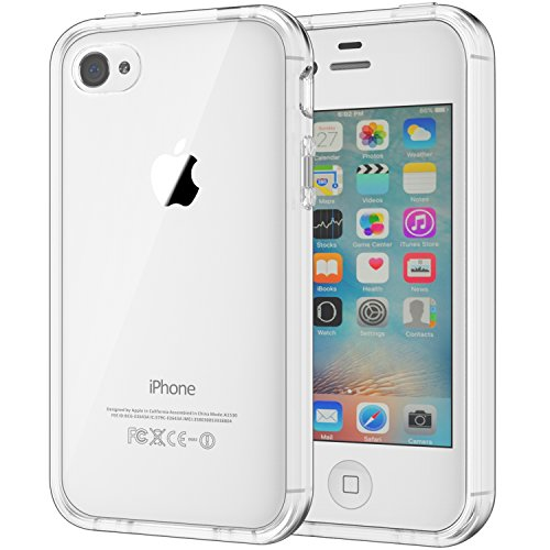 JETech Funda Compatible iPhone 4s y iPhone 4, Carcasa Anti-Choques y Anti-Arañazos, Transparente