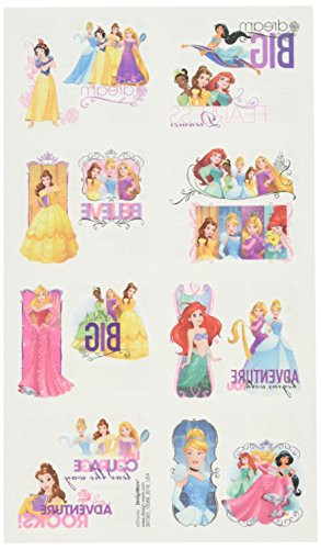 amscan Disney Princess Dream Big Geburtstag Party temporäre Tattoos Favor, Multicolor, 5,1cm X 13/10,2cm (Prinzessinnen Disney Tattoo)