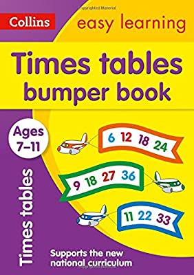 Times Tables Bumper Book Ages 7-11 (Collins Easy Learning KS2) from Collins