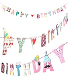 CoolChange Hochwertige Deko Banner Girlande, Motiv: Happy Birthday