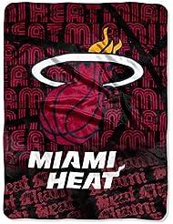 Miami Heat 46Ft X 60Ft Micro Raschel Throw Blanket - Redux Design