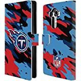 Official NFL Camou Tennessee Titans Logo Leather Book Wallet Case Cover For LG G4 / H815 / H810