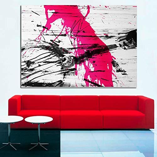 Graffiti Gitarre Kunst Rot Moderne Abstrakte Malerei Digitaldruck Auf Leinwand Für Pop Art Wandbild Für Wohnzimmer Cuadros Poster 70x100 cm Ungerahmt