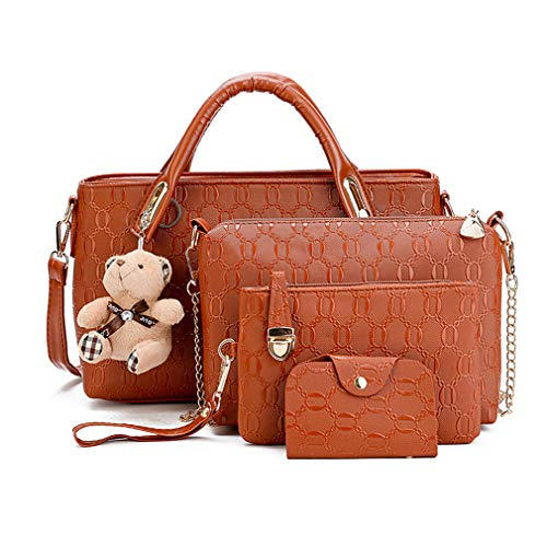 schen Handtaschen Leder Frauen Handtaschen Set 9 teiliges Fashion Rucksack Damenhandtasche tasche taschen günstig beuteltasche günstige handtaschen ()