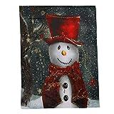 Weihnachtsdecke Flanell Stoff Schlafsofa Decke 150X200CM YunYoud Kuschelige Wohndecke aus extra weichem Kuschelflanell | Sanft weiche