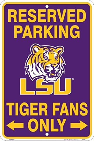 LSU Tigers, Tiger Fans Only, Parking Sign by PARKING SIGNS (NCAA)