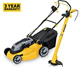 """51fpXbpIIeL. SL160  - BEST BUY LAWN MOWER# Powerplus Garden Pro 16"""" 406mm 1600w Electric Lawn Mower Complete with 250w Grass Trimmer Strimmer Includes 10m Cable 3 YEAR WARRANTY Reviews"""