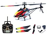 efaso V913 - 4-Kanal Single Blade RC Heli WL 2.4 GHz Ready to Fly, schwarz/rot