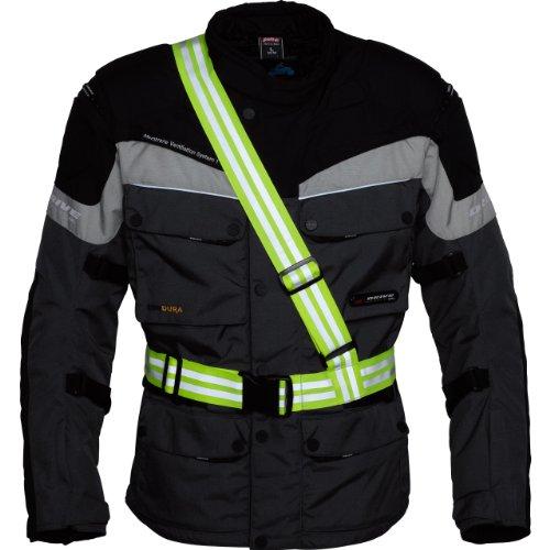 Safe Max® Sicherheitsschutz, Warnschutz Motorrad neon gelb für Damen & Herren | Signalband