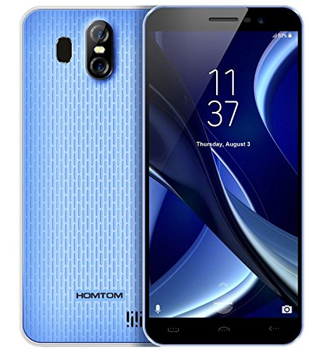 HOMTOM S16 - 5,5 Zoll HD Vollbild (18: 9 Ratio) Android 7.0 3G Smartphone, 1,3 GHz Quad Core 2 GB RAM 16 GB, drei Kamera (8MP + 2MP + 13MP) - Blau