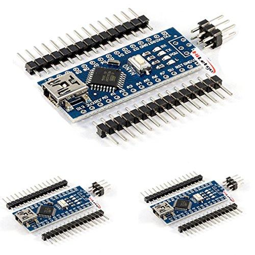 hiletgo Mini USB Nano V3.0ATmega328P CH340G 5V 16M Mikrocontroller Board Modul für Arduino (Pack von 5x) (Pic Programmer Kit)