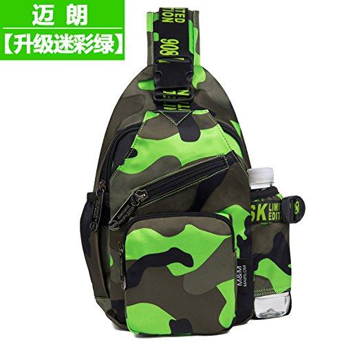 MSZYZ Weihnachtsgeschenke Pack Brust Single Umhängetasche Messenger Bag und Persönlichkeit Grün