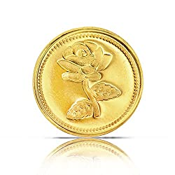 99jewels 2 Gm gold coin 24 kt (Yellow Gold)