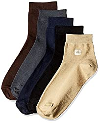 Arrow Mens Liners and Ankle Socks (Pack of 5) (8904135548098_Multicoloured)