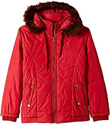 Fort Collins Girls Regular Fit Jacket (10212_Red_28 (8 - 9 years))
