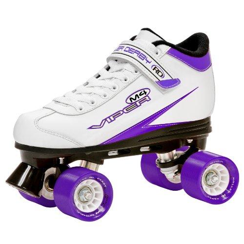 Roller Viper (Roller Derby Rollschuhe Viper M4 Women's Speed Quad Skate, Weiß/Lila/Schwarz, 10, U 724 W)