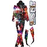 Imagicom Celebrity Icons Wandbild Aufkleber Michael Jackson, Stoff, Rot, 200x 100x 0,1cm