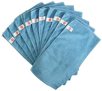 Chiffons en microfibre Harbour Housewares - Lot de 10 - Grand format 40cm x 40cm - Bleu