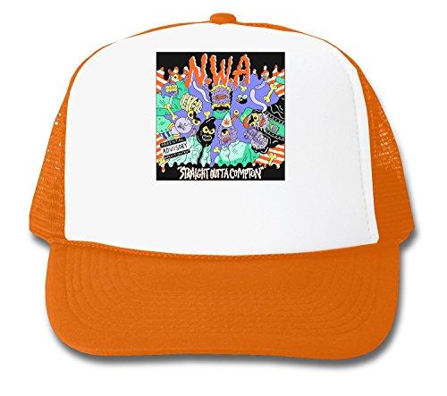 MaikesTic NWA Straight Outta Compton Cartoon Design Trucker Cap (E Eazy Hat Compton)