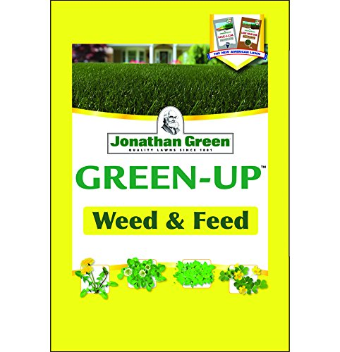 Sq Cover (JONATHAN GREEN & SONS, INC. - Weed & Feed Lawn Fertilizer Plus Broadleaf Weed Control, 21-0-3, Covers 5,000-Sq.-Ft.)