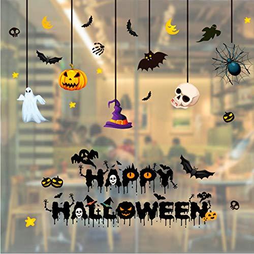 TYKCRt Wandaufkleber Halloween PVC Kürbis - Geist - Schläger - Baum Seltsamere Dinge Plakat - Kunst Aufkleber Removable Zuhause - Party - Raum - Dekor