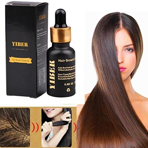 Haarwachstums-Flüssigkeit, effektivstes Asiens Nr.1 Haar-Wachstums-Serum-Öl 100% natürlicher Auszug (20ml / Flasche, Mehrfarbig) (Ingwer Pinsel)