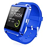 colofan Smartwatch Luxus U8 Bluetooth Smart Watch Armbanduhr Handy mit Kamera Touchscreen f¨¹r iOS iPhone Android Smartphone Samsung Smartphone(blau)