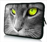 13-13.3 Zoll Tablet Hülle, laptoptasche - zoll Fall Neopren für Notebooks Dell HP Macbook Samsung Apple Toshiba (13 grey cat)