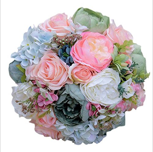 Handgemachte Braut Bouquet Künstliche Rose Bouquets Bräute Hand mit Blumen Griechische Ölgemälde Hochzeit Liefert