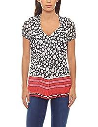 64c244be2957cc Druckbluse Damen-Bluse Crash-Optik Shirt Schwarz Patrizia DINI,  Größenauswahl:38