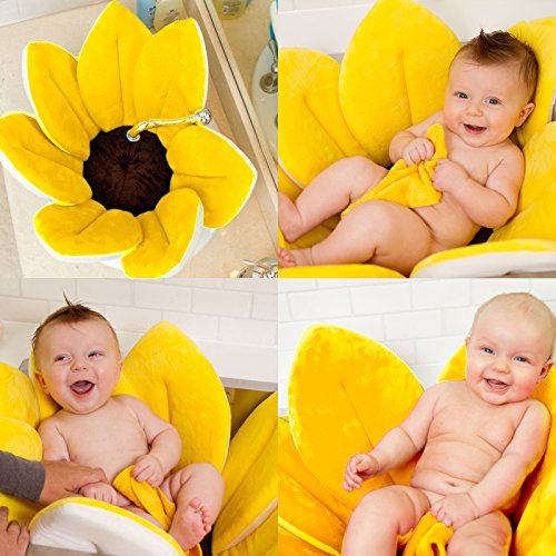 Baby Blumenbad – Badewanneneinsatz mit Sitz für Neugeborene für die Babybadewanne als faltbarer Aufsatz für Wannenbad, Babybad und Waschbecken