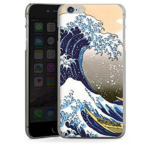 Apple iPhone X Silikon Hülle Case Schutzhülle Katsushika Hokusai Japan Kunst Hard Case anthrazit-klar