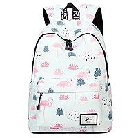 Uniuooi Kids Flamingo Backpack School Bag for Girls Boys Teenage Waterproof Students Satchel- Fit for 15.6inch Laptop