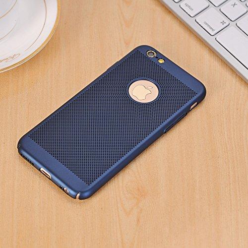 Für Apple IPhone 6 u. 6s Fall Normallack-Metallaluminiumlegierungs-Ineinander greifen-Kasten Ultra dünner dünner leichter Hitze-Dissipation-rückseitige Abdeckung ( Color : Red ) Blue