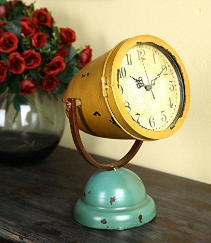 ZHUNSHI Amerikanische Eisen Jugendstil Clock Clocks Desktop Clock Tun alten Stumm mit Industrial...