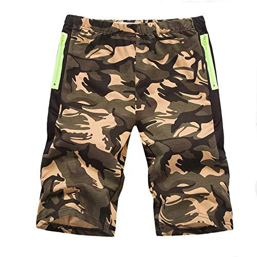 Kurze Hose Herren Camouflage Arbeitshose Sport Sommer Hosen Tasche PPangUDing Freizeitshorts Shorts Casual Chino Bermuda Cargo Hawaii Strand Stretch Schnel Jeans (M, Grün) -