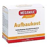 MEGAMAX Aufbaukost in 4 verschiedenen Geschmacksrichtungen. Ideal zur Kräftigung und bei Untergewicht. Pulver zur einfachen Zubereitung eines fettarmen Kohlenhydrat-Eiweiß-Getränkes. Inhalt: 4 x 30 g. Produktion in Deutschland.