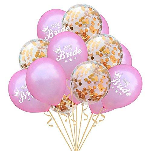 navigatee 15 Stücke 12 zoll team Braut konfetti luftballons Latex Hen Party Balloons Dekor Hochzeit Geburtstagsparty dekoration