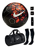 #1: RetailWorld Nike (Replica) CR7 Black/Red Football Combo Kit