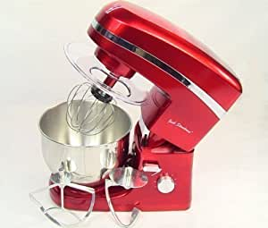 Jack Stonehouse FOOD MIXER Red with Three Different Mixer Blades, Splash Guard - 12 Months Warranty