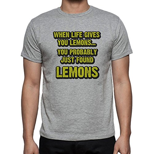 When Life Gives You Lemons Just Found Herren T-Shirt Grau