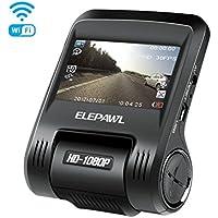 """Cámara de Coche 1080P  Full HD Dash Cam Gran Angulo 170° 2.4""""LCD G-sensor Grabadora de Videocámara DVR con con WIFI APP Detección de Movimiento, G-Sensor, Loop de Grabación"""