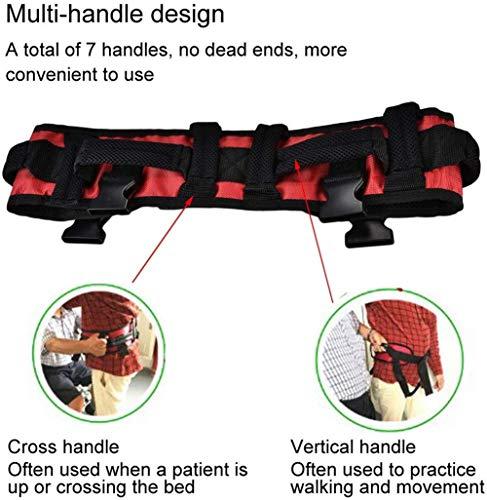 51fpja7JhAL - WuLien Cinta de Transferencia - Dispositivo de arnés del cinturón de la Marcha de la grúa de Asistencia móvil para bariátrica, pediátrica, Ancianos, Terapia Ocupacional y física,L
