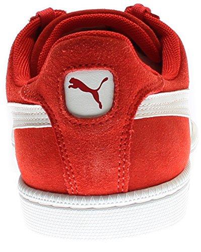 Puma Smash Cuir Classique Sneaker High Risk Red / White