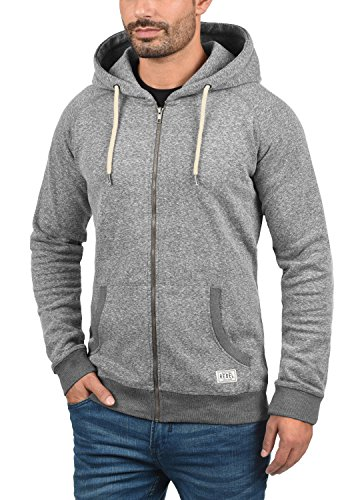 REDEFINED REBEL Marlelo Herren Sweatjacke Kapuzen-Jacke Zip-Hood aus einer hochwertigen  Baumwollmischung Meliert ...